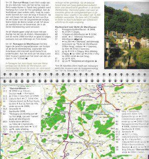 Fietsroute: Langs oude wegen en pelgrimssteden - Deel 1: Maastricht/Aken – Nevers (Loire) (binnenbladzijden)
